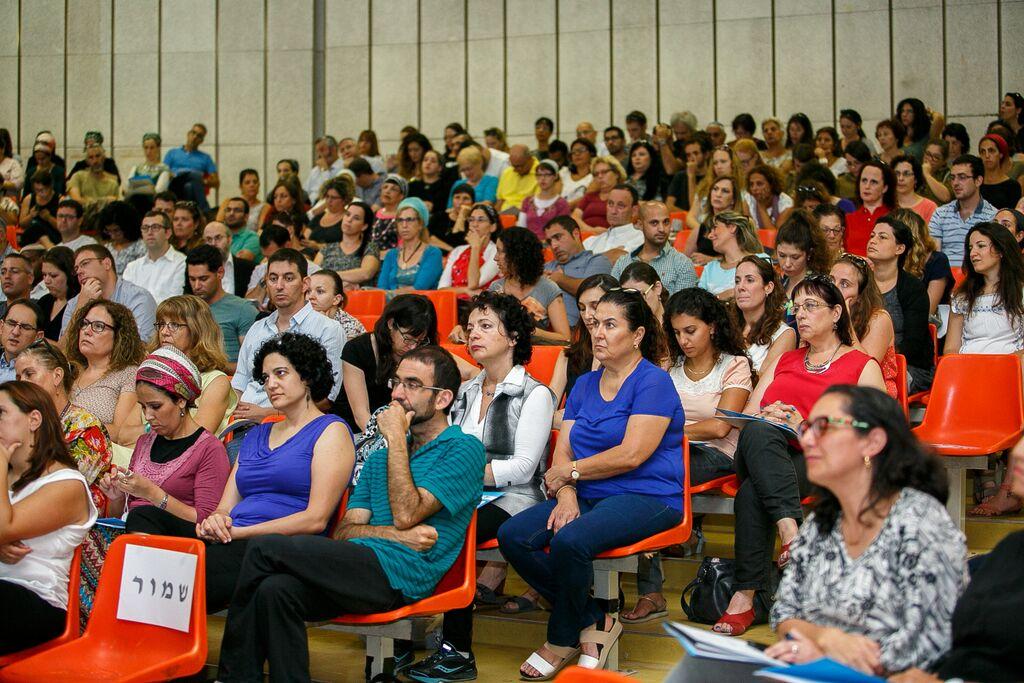 קהל ביום עיון חינוך בעמק השווה